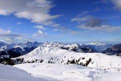 European Alps. Skiing Region Arlberg. Vorarlberg. Austria Stock Images