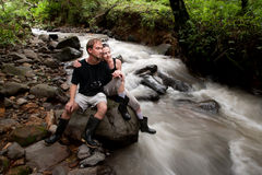 European and American couple in Costa Rica Stock Photography