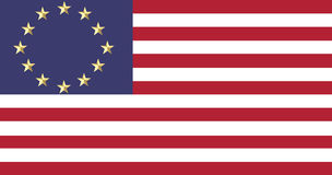 European and American flags united Royalty Free Stock Images
