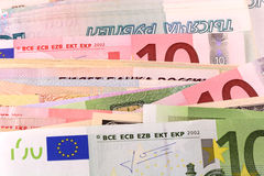 European and american money background Stock Image