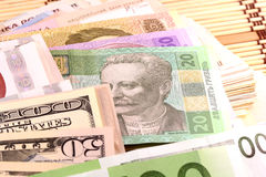 European and american money Royalty Free Stock Images