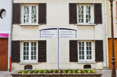 European apartment building with open shutters Royalty Free Stock Photo