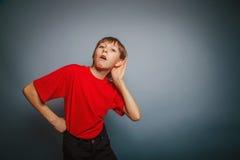 European appearance boy overhears a decade Stock Images