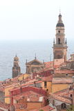 European Architecture in the Mediterranean, Menton Royalty Free Stock Photography