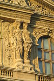European architecture statues on building in Paris Royalty Free Stock Images