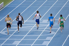 European Athletics 100 m Royalty Free Stock Photo