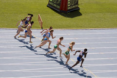 European Athletics 100 meters Royalty Free Stock Images