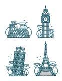European Attractions.Paris Eiffel Tower Stock Image