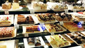 European bakery. Spread at Buford International Farmers Market, Atlanta Royalty Free Stock Photos