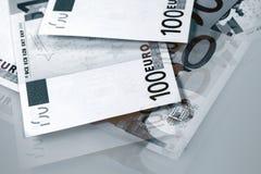 European bank notes Stock Photo