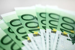 European bank notes stock images