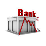 European banking crash. European banking crash 3D illustration Royalty Free Stock Photo