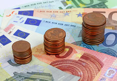 European banknotes, Euro currency from Europe. Stock Photography