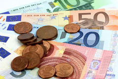 European banknotes, Euro currency from Europe Royalty Free Stock Photo