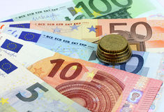 European banknotes, Euro currency from Europe, Euros. Royalty Free Stock Photography
