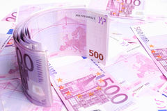 European Bills Background Royalty Free Stock Photo
