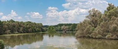 The European bird sanctuary and nature reserve Kuehkopf - Knoblochsaue, germany.  Royalty Free Stock Photography