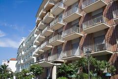 European block. Modern multi-apartments building in Sorrento, Italy Stock Photos