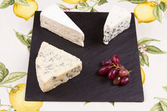 European blue cheeses Stock Photo
