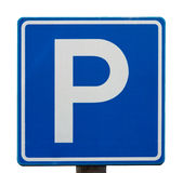 European blue parking sign Royalty Free Stock Photos