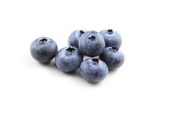 European blueberry fruits isolated Royalty Free Stock Photography
