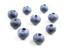 European blueberry fruits isolated Royalty Free Stock Photos