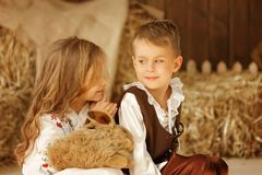 European boy and girl together. Love story Royalty Free Stock Photography