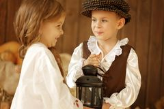 European boy and girl together. Love story Royalty Free Stock Images