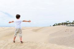 European boy with open arms Royalty Free Stock Images