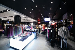 European brand new clothes shop Stock Images