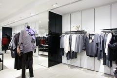 European brand new clothes shop Stock Photo