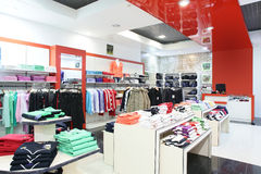 European brand new clothes shop Stock Photography