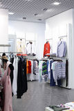 European brand new clothes shop Stock Photography