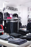 European brand new clothes shop Stock Image