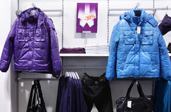 European brand new clothes shop Royalty Free Stock Photos