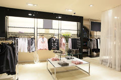 European brand new clothes shop Royalty Free Stock Photo