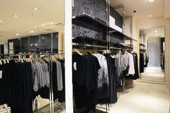 European brand new clothes shop Royalty Free Stock Images