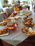 European breakfast in Italy Stock Image