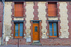 European brick and mortar apartment building Stock Photography
