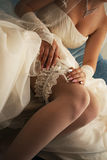 European bride's garter Stock Photo