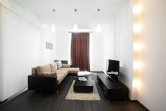 European bright and stylish interior Royalty Free Stock Images