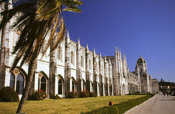 European building. St. Jeronimos monastery in Belem, Portugal Stock Photo