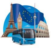 European bus tour Royalty Free Stock Images