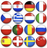 European buttons Stock Images