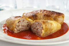 European cabbage rolls Royalty Free Stock Images
