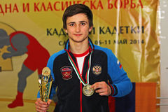 2014 European cadet wrestling championship Royalty Free Stock Photos