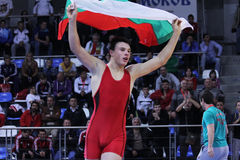 2014 European cadet wrestling championship Royalty Free Stock Images