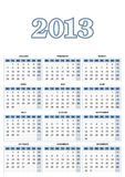 European Calendar Royalty Free Stock Images