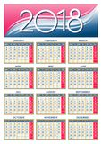 European calendar grid in vector Stock Image