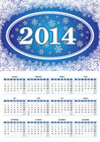 European calendar for 2014 Stock Images